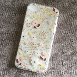 iPhone Floral Plastic Phone Case